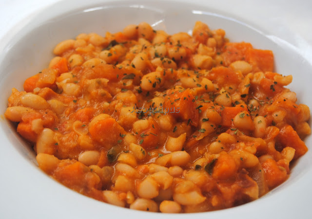 Judías con Salsa de Tomate (Fasolakia me tomáta)
