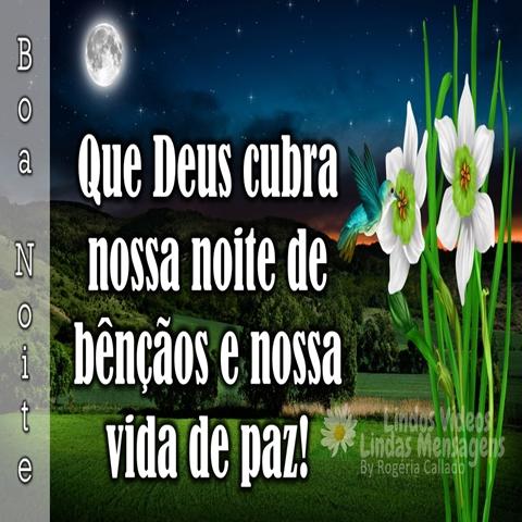 Que Deus cubra nossa   noite de bênçãos  e nossa vida de paz!  Boa Noite!