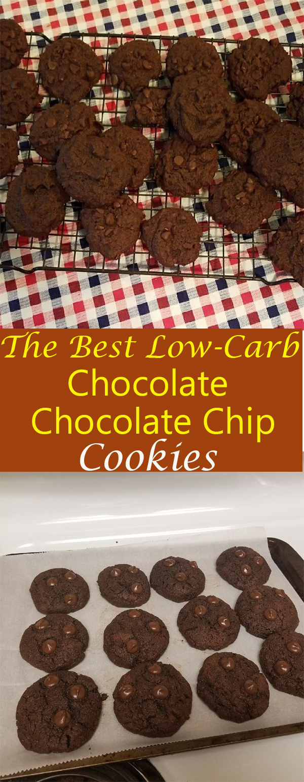 The Best Low-Carb Chocolate Chocolate Chip Cookies