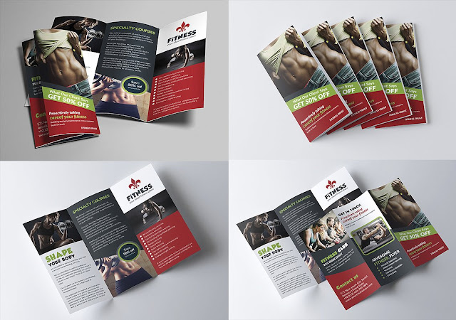 Design open PSD brochures ready for adjustable gym design