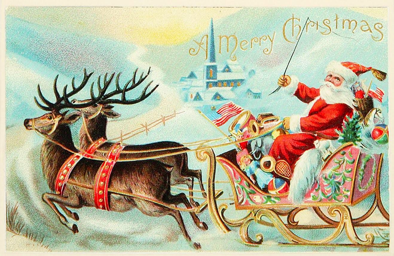 Cartes postales anciennes: Carte postale ancienne, Joyeux Noël