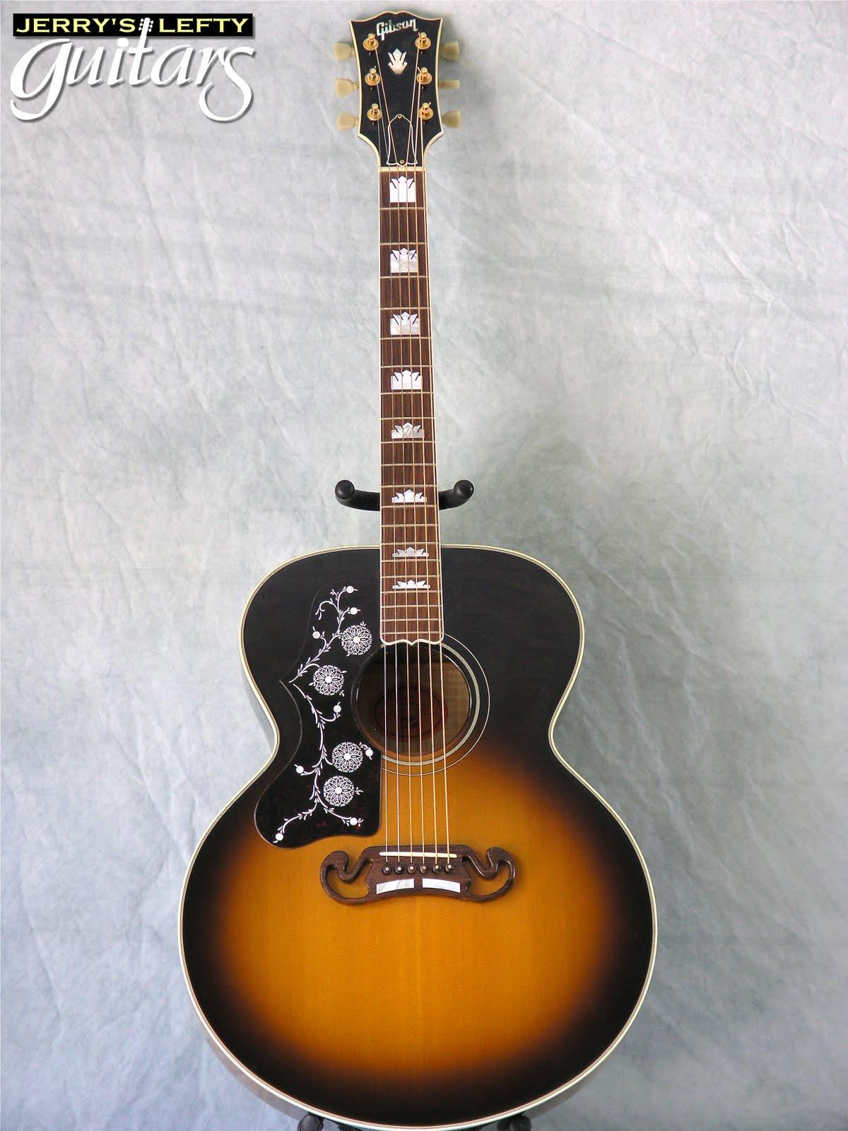 jerry 39 s lefty guitars newest guitar arrivals updated weekly gibson j200 sunburst left handed. Black Bedroom Furniture Sets. Home Design Ideas