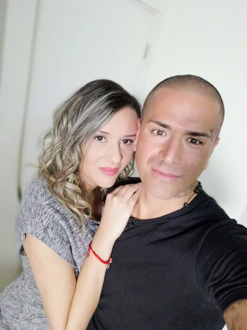 Kike Acuña y Daniela Urbina