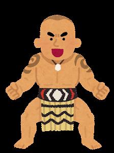 マオリ族のハカのイラスト3