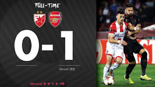 Arsenal Menang di Kandang Red Star Belgrade - Highlights Liga Europa