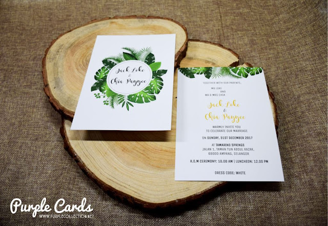 cetak, print, online order, express, matt, art card, personalized, personalised, designer, leaf, wedding card, invitation, invites, save the date, tie the knot, bespoke, unique, special, simple, foliage, rush, pearl, elegant, tamarind springs, ampang, weds, ROM, register of marriage, luncheon, lunch, dinner, forest, green