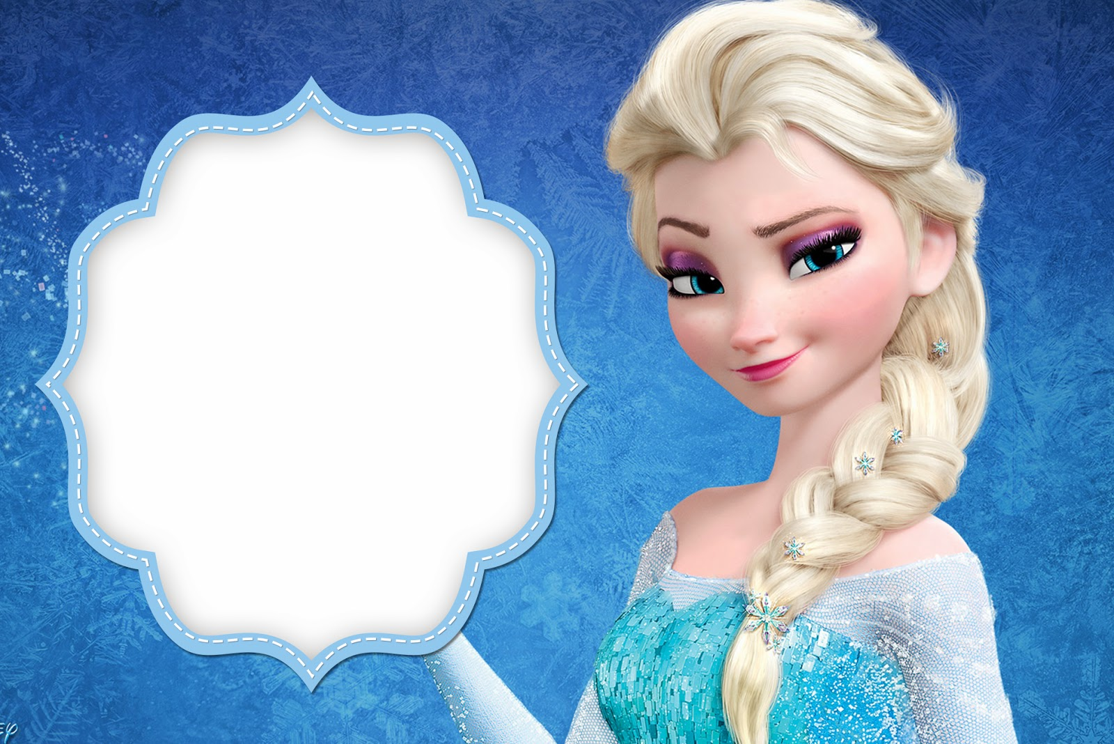 frozen: free printable cards or party invitations. | oh my fiesta