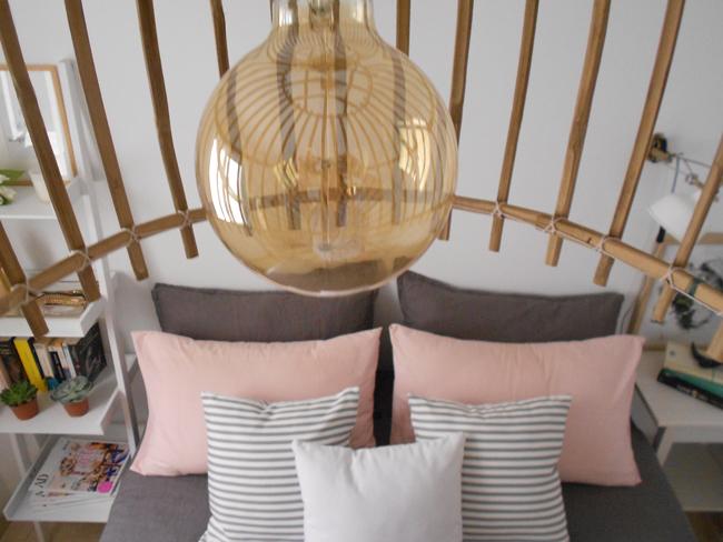 Decorar piso de alquiler: mi habitación en blanco, rosa y gris