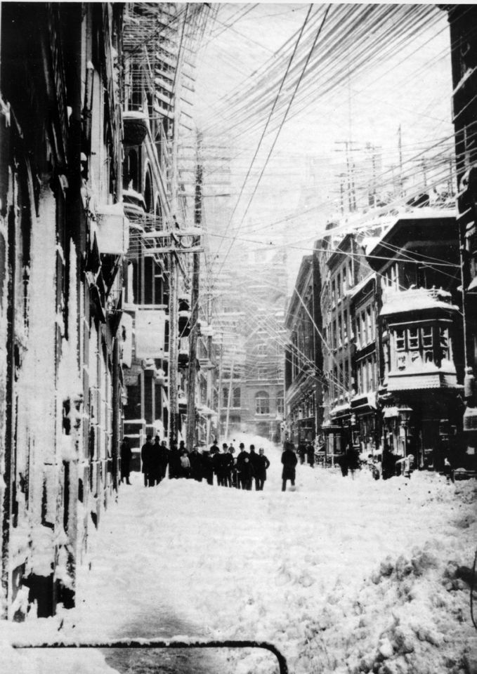 Incredible Pictures Of The Great Blizzard Of 1888 How One