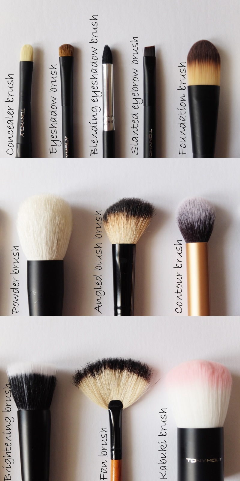 List Of All Makeup Brushes And Their Uses
