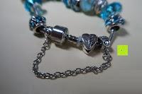 Kette: A TE® Armband Charms Damen Kristall Blau Muranoglas Blume Glasperle Mädchen Geschenk Frauen #JW-B94