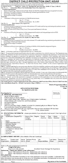 District Child Protection Unit Hisar Haryana Recruitment