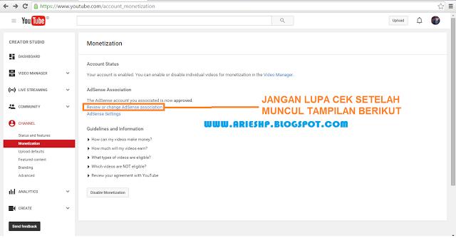 Daftar Akun Adsense Youtube 10 Arieshp