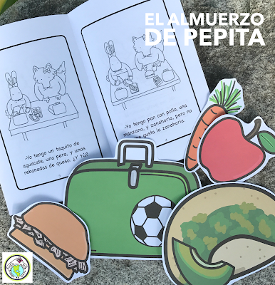 School Lunch Activity Pack in Spanish for Kids