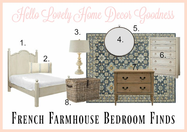 French farmhouse decor for a bedroom from One King's Lane on Hello Lovely Studio