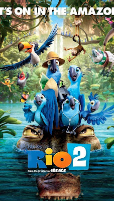 Poster Of Free Download Rio 2 2014 300MB Full Movie Hindi Dubbed 720P Bluray HD HEVC Small Size Pc Movie Only At worldfree4u.com