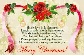 Merry Christmas Greetings Card Messages