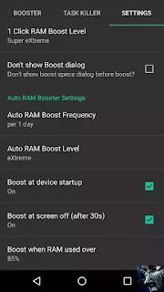 menggunakan RAM Booster eXtreme Speed Menambah RAM Android