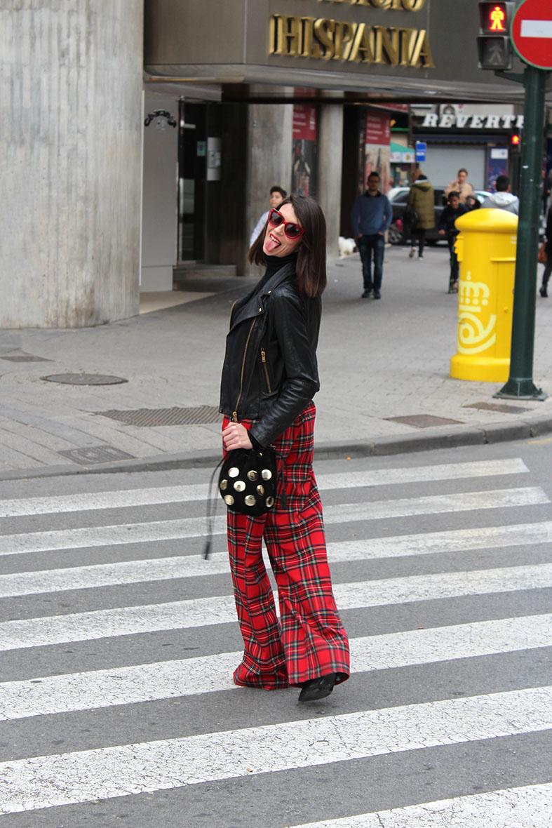 Pantalones palazzo escoceses - Ángeles y diablillos  92456333e6c7