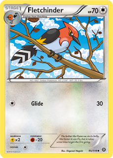 Fletchinder Steam Siege Pokemon Card