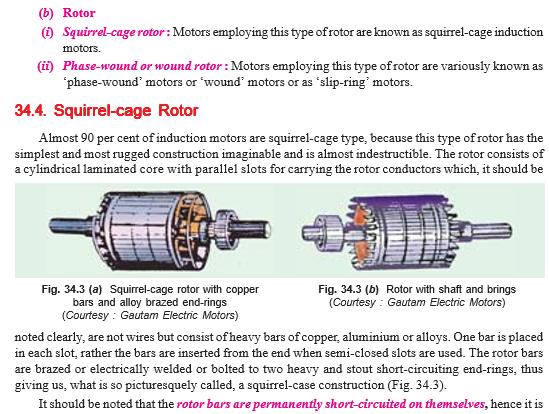 3 phase induction motor construction