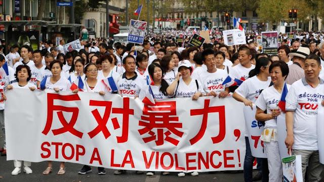 Rechazan en París la violencia contra la comunidad asiática