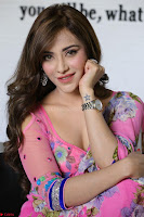 Actress Angela Krislinzki in Pink Saree Blouse Exclusive Pics March 2017 ~  015.JPG
