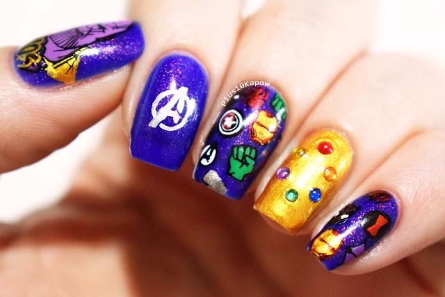 Avengers Endgame Nerdy Nails Thanos Infinity Stones