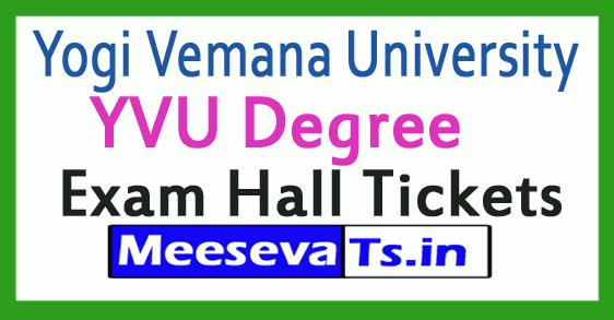 Yogi Vemana University YVU Degree Exam Hall Tickets
