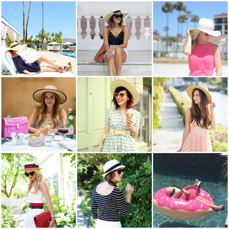fashion bloggers style summer hat trend