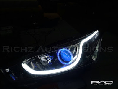 custom angel eyes wifi + devil eyes wifi + drl lexus style