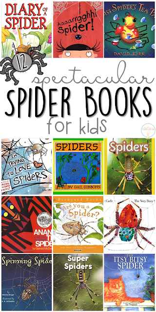 If you are planning a spider theme for your classroom or homeschool this fall, you'll definitely want to check out these great spider picture books! Lots of great titles and ideas for incorporating comprehension and writing skills too.
