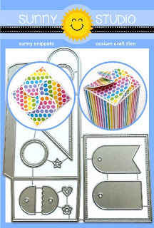 Sunny Studio Stamps: Wrap Around Gift Box with Mini Mix & Match Tags Low Profile Metal Cutting Dies