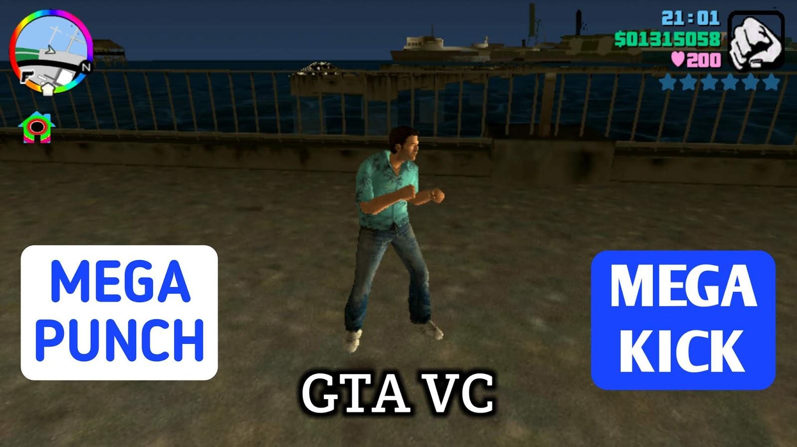 GTA Vice City Mega Punch And Mega Kick Mod Android / PC   No-Root