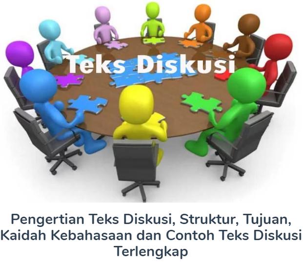 Pengertian Teks Diskusi, Struktur, Tujuan, Kaidah Kebahasaan dan Contoh Teks Diskusi Terlengkap