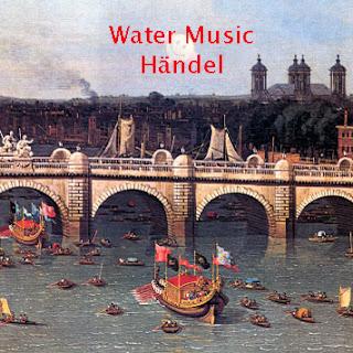 Pintura al óleo: Water Music (Händel) - El cuadro muestra un cortejo de barcazas reales sobre el río Támesis (Londres)