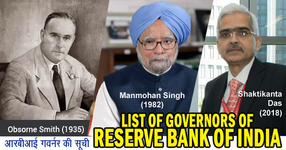 List of Governors of Reserve Bank of India