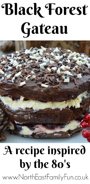 Black Forest Gateau Recipe - inspired by the 80's #RennieHappyEating