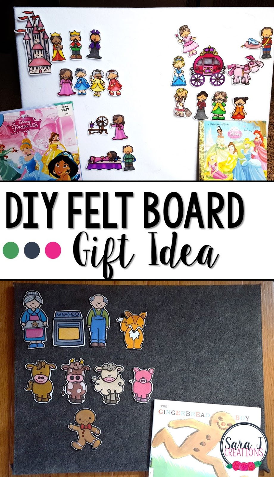 DIY felt boards and sets make the perfect gift for Christmas or any time of the year.