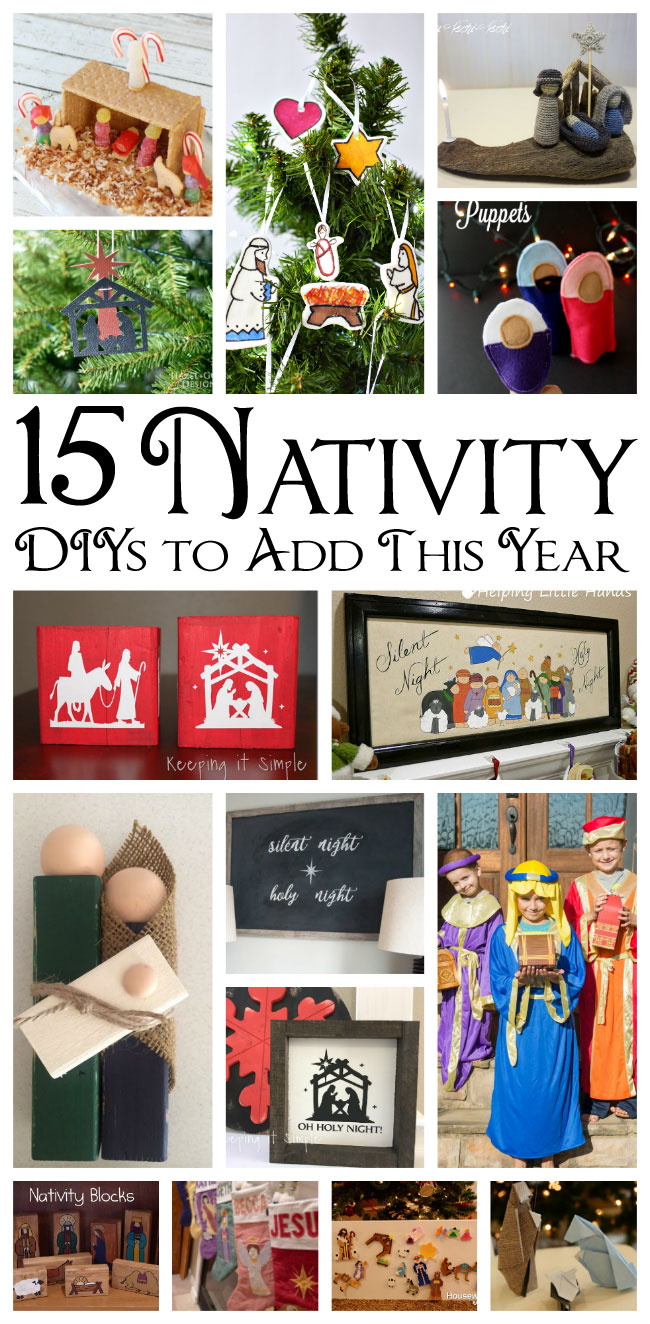 Christmas nativity traditions and crafts mmm 411 block party can make yourself to add to your collection these would be a great activity for the family or you can decorate with them or make them and give them as solutioingenieria Choice Image