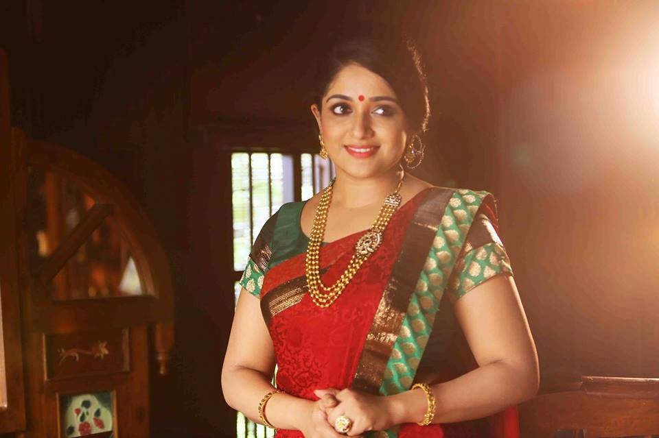 Kavya Madhavan In Red Saree Latest Photos