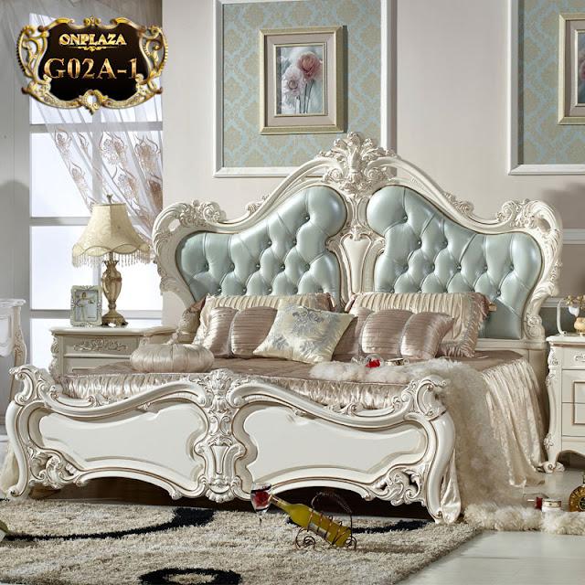 Bộ sản phẩm Giường ngủ tân cổ điển phong cách Pháp thời thượng G02A; Giá : 28,742,155 VND