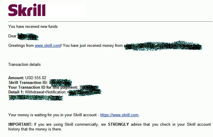 خطوات سحب الاموال من بنك سكريل Skrill فرصـة اولــى