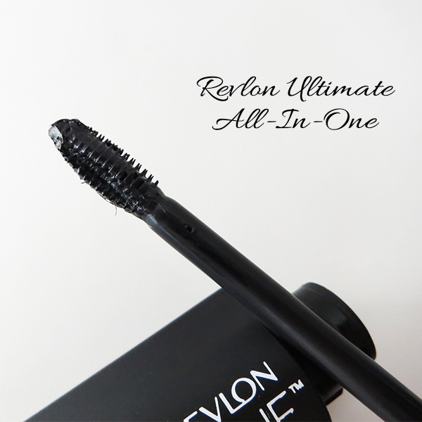 Close-up of the brush on Revlon Ultimate All-In-One Mascara