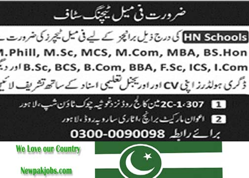 Female Teachers Jobs 2018 Intermediate to M.Phil