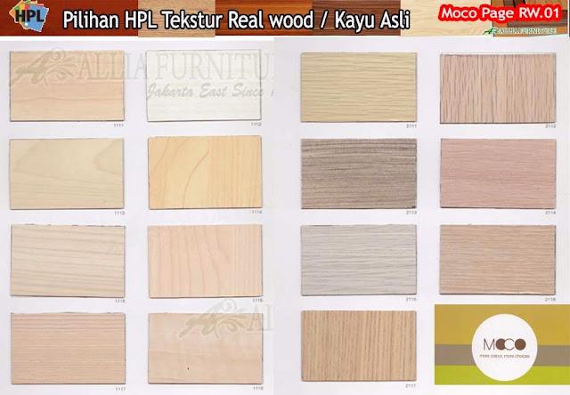 RW.01 HPL motif tekstur kayu asli
