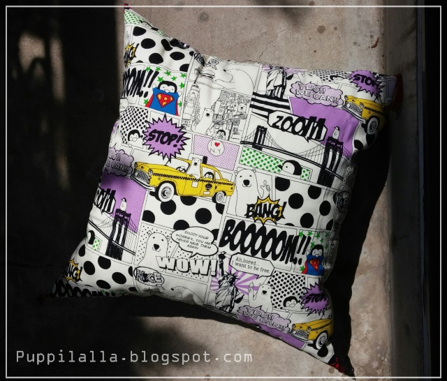 Puppilalla, Japanese Style Floor Cushion, hand made, pillowcase, japanese craft, DIY