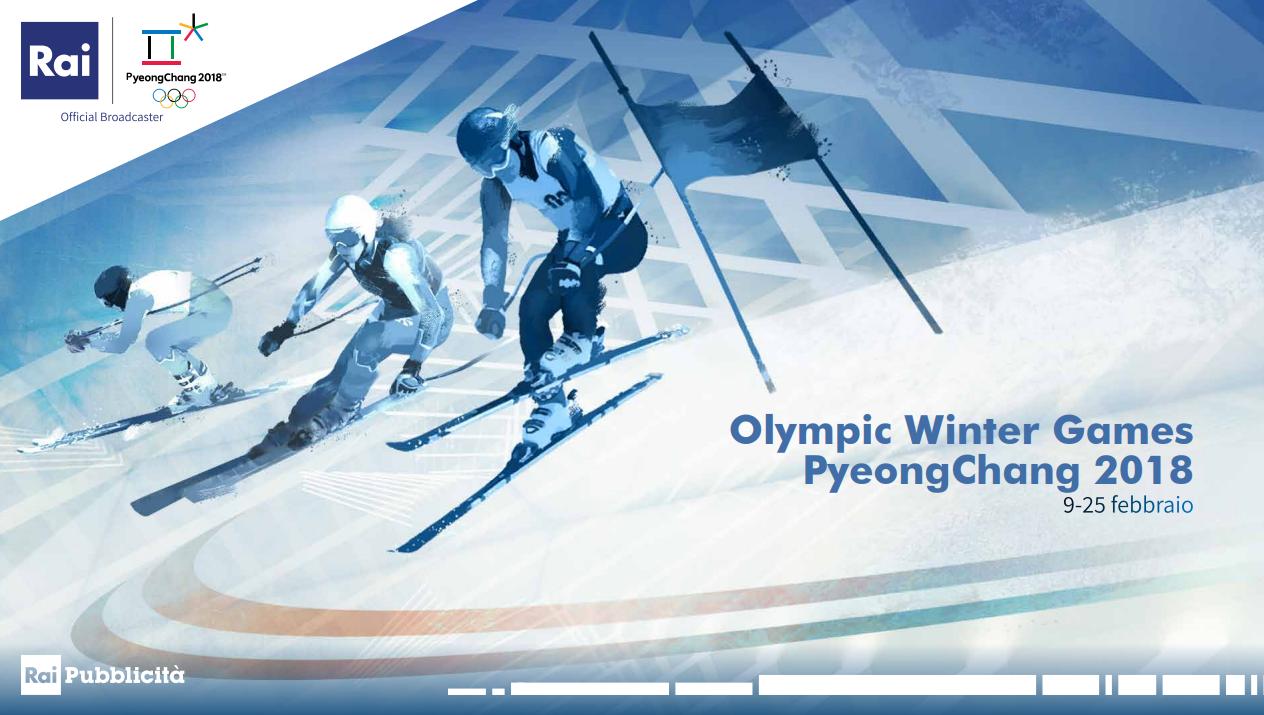 Rai pubblicit presenta l 39 offerta commerciale per le for Xxiii giochi olimpici invernali di pyeongchang medaglie per paese