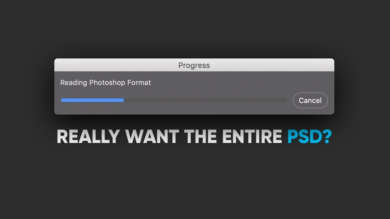 Open HUGE PSD File Previews 30X Faster!