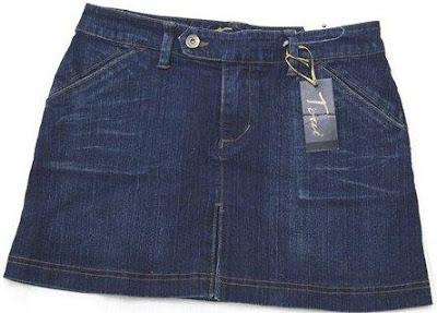 Foto de una falda corta jean color azul